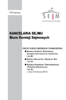 Pełny Zapis Przebiegu Posiedzenia Komisji Samorządu Terytorialnego i Polityki Regionalnej (nr33) z dnia 27 kwietnia 2016 r.