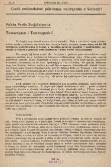 Barykada Wolności : tygodnik polityczny P.P.S. na terenach wyzwolonych. R.1, № 1 (10 września 1944)