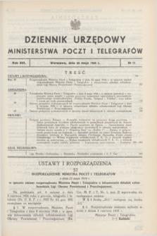 Dziennik Urzędowy Ministerstwa Poczt i Telegrafów. R.16, nr 11 (29 maja 1934)