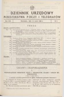 Dziennik Urzędowy Ministerstwa Poczt i Telegrafów. R.17, nr 5 (14 marca 1935)