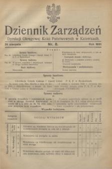 Dziennik Zarządzeń Dyrekcji Okręgowej Kolei Państwowych w Katowicach. 1931, nr 8 (31 sierpnia)