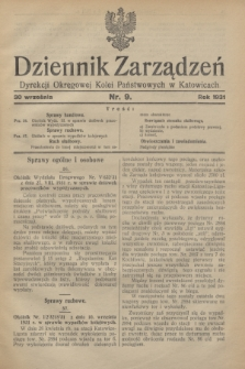 Dziennik Zarządzeń Dyrekcji Okręgowej Kolei Państwowych w Katowicach. 1931, nr 9 (30 września)