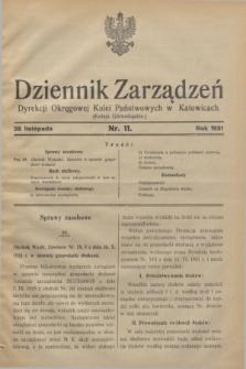 Dziennik Zarządzeń Dyrekcji Okręgowej Kolei Państwowych w Katowicach. 1931, nr 11 (28 listopada)