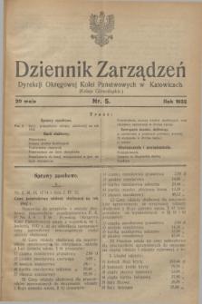 Dziennik Zarządzeń Dyrekcji Okręgowej Kolei Państwowych w Katowicach. 1932, nr 5 (30 maja)