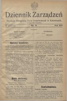 Dziennik Zarządzeń Dyrekcji Okręgowej Kolei Państwowych w Katowicach. 1935, nr 6 (14 września)