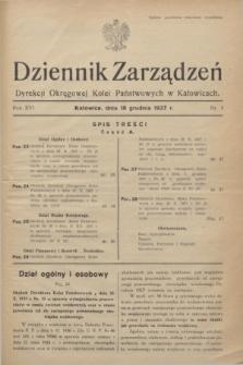 Dziennik Zarządzeń Dyrekcji Okręgowej Kolei Państwowych w Katowicach. R.16, nr 5 (18 grudnia 1937)