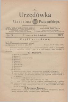 Urzędówka Starostwa Pszczyńskiego. 1929, nr 13 (6 kwietnia)