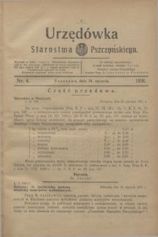Urzędówka Starostwa Pszczyńskiego. 1931, nr 4 (24 stycznia)
