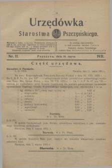 Urzędówka Starostwa Pszczyńskiego. 1931, nr 11 (14 marca)
