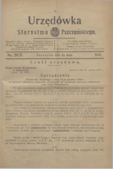 Urzędówka Starostwa Pszczyńskiego. 1931, nr 20/21 (23 maja)