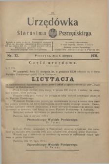 Urzędówka Starostwa Pszczyńskiego. 1931, nr 32 (8 sierpnia)