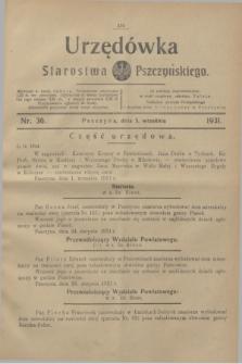 Urzędówka Starostwa Pszczyńskiego. 1931, nr 36 (5 września)