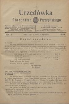 Urzędówka Starostwa Pszczyńskiego. 1933, nr 3 (21 stycznia)