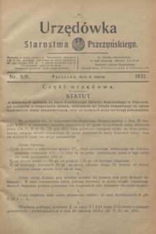 Urzędówka Starostwa Pszczyńskiego. 1933, nr 8/9 (4 marca)