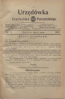 Urzędówka Starostwa Pszczyńskiego. 1933, nr 11 (18 marca)