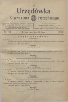 Urzędówka Starostwa Pszczyńskiego. 1933, nr 30 (29 lipca)