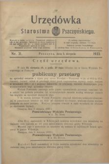 Urzędówka Starostwa Pszczyńskiego. 1933, nr 31 (5 sierpnia)