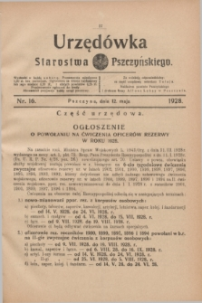 Urzędówka Starostwa Pszczyńskiego. 1928, nr 16 (12 maja)