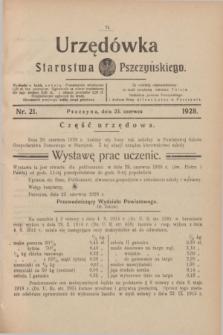 Urzędówka Starostwa Pszczyńskiego. 1928, nr 21 (23 czerwca)