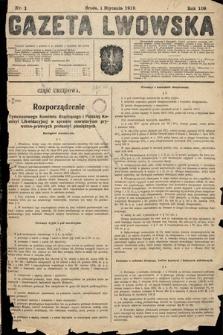 Gazeta Lwowska. 1919, nr1