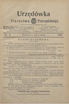 Urzędówka Starostwa Pszczyńskiego. 1934, nr 9 (3 marca)