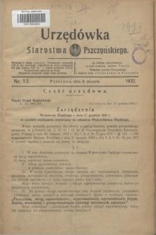 Urzędówka Starostwa Pszczyńskiego. 1932, nr 1/2 (9 stycznia)