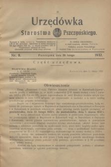 Urzędówka Starostwa Pszczyńskiego. 1932, nr 8 (20 lutego)
