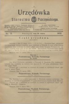 Urzędówka Starostwa Pszczyńskiego. 1932, nr 13 (26 marca)