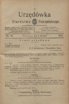 Urzędówka Starostwa Pszczyńskiego. 1932, nr 45 (5 listopada)