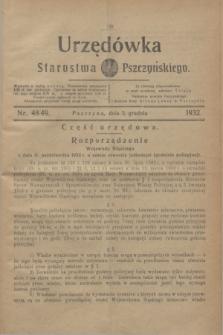 Urzędówka Starostwa Pszczyńskiego. 1932, nr 48/49 (3 grudnia)