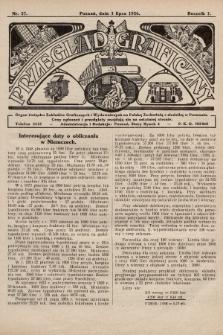 Przegląd Graficzny : Organ Związku Zakładów Graficznych i Wydawniczych na Polskę Zachodnią z siedzibą w Poznaniu. R. 7, 1926, nr27