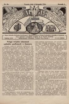 Przegląd Graficzny : Organ Związku Zakładów Graficznych i Wydawniczych na Polskę Zachodnią z siedzibą w Poznaniu. R. 7, 1926, nr45