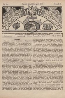 Przegląd Graficzny : Organ Związku Zakładów Graficznych i Wydawniczych na Polskę Zachodnią z siedzibą w Poznaniu. R. 7, 1926, nr48