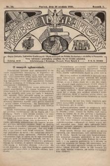 Przegląd Graficzny : Organ Związku Zakładów Graficznych i Wydawniczych na Polskę Zachodnią z siedzibą w Poznaniu. R. 7, 1926, nr52