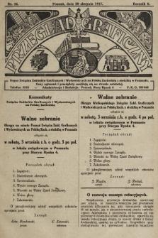 Przegląd Graficzny : Organ Związku Zakładów Graficznych i Wydawniczych na Polskę Zachodnią z siedzibą w Poznaniu. R. 7, 1927, nr34