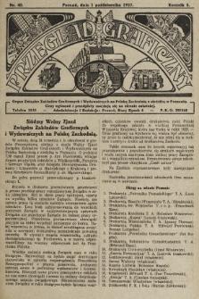 Przegląd Graficzny : Organ Związku Zakładów Graficznych i Wydawniczych na Polskę Zachodnią z siedzibą w Poznaniu. R. 7, 1927, nr40
