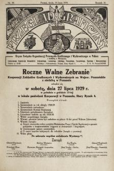Przegląd Graficzny : organ Związku Organizacyj Przemysłu Graficznego i Wydawniczego w Polsce. R. 10, 1929, nr29