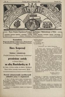 Przegląd Graficzny : organ Związku Organizacyj Przemysłu Graficznego i Wydawniczego w Polsce. R. 10, 1929, nr45