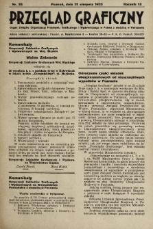 Przegląd Graficzny : Organ Związku Organizacyj Przemysłu Graficznego i Wydawniczego w Polsce z siedzibą w Warszawie. R. 13, 1932, nr35