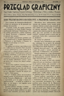 Przegląd Graficzny : Organ Związku Organizacyj Przemysłu Graficznego i Wydawniczego w Polsce z siedzibą w Warszawie. R. 16, 1935, nr2