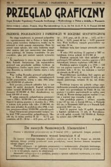 Przegląd Graficzny : Organ Związku Organizacyj Przemysłu Graficznego i Wydawniczego w Polsce z siedzibą w Warszawie. R. 16, 1935, nr19