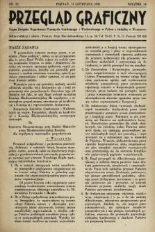 Przegląd Graficzny : Organ Związku Organizacyj Przemysłu Graficznego i Wydawniczego w Polsce z siedzibą w Warszawie. R. 16, 1935, nr22