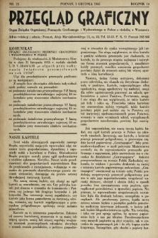 Przegląd Graficzny : Organ Związku Organizacyj Przemysłu Graficznego i Wydawniczego w Polsce z siedzibą w Warszawie. R. 16, 1935, nr23