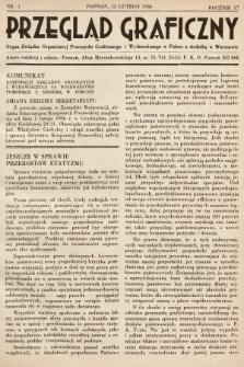Przegląd Graficzny : Organ Związku Organizacyj Przemysłu Graficznego i Wydawniczego w Polsce z siedzibą w Warszawie. R. 17, 1936, nr4