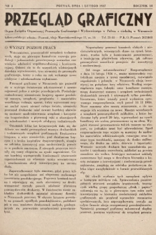 Przegląd Graficzny : Organ Związku Organizacyj Przemysłu Graficznego i Wydawniczego w Polsce z siedzibą w Warszawie. R. 18, 1937, nr3