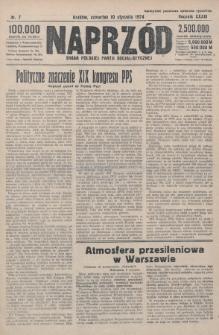 Naprzód : organ Polskiej Partji Socjalistycznej. 1924, nr7