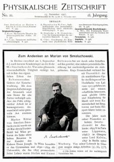 Zum Andenken an Marian von Smoluchowski