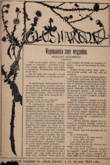 """Głos Narodu : dodatek bezpłatny do """"Głosu Narodu"""" z 11 stycznia 1903 roku, [nr2]"""