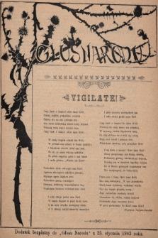 """Głos Narodu : dodatek bezpłatny do """"Głosu Narodu"""" z 25 stycznia 1903 roku, [nr4]"""