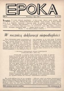 Epoka. 1938, nr19